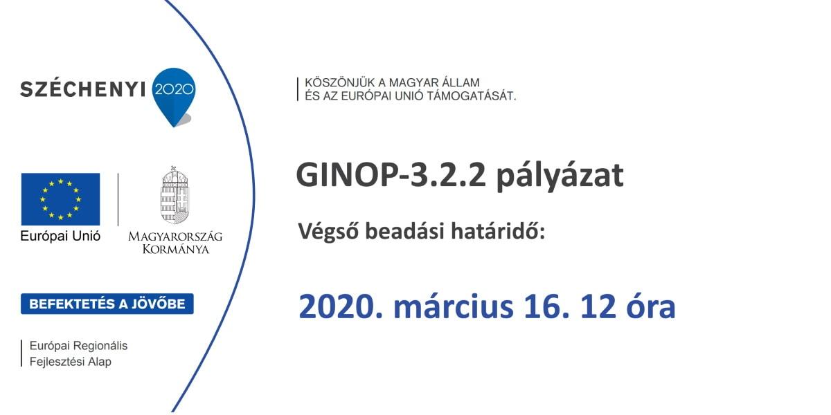 Lezárul a GINOP 3.2.2