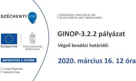 Végleg lezárul a GINOP-3.2.2 pályázat